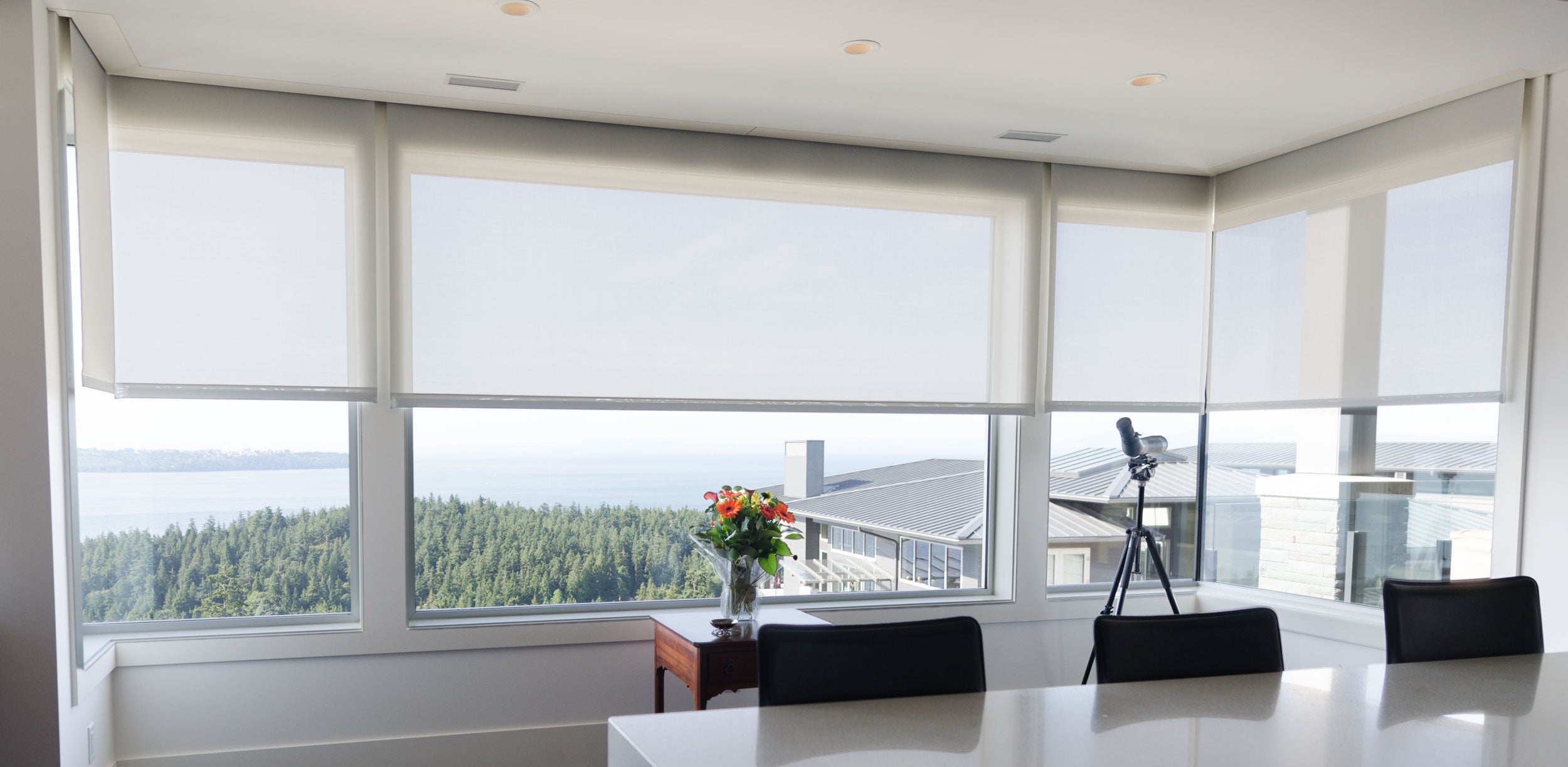 living room with blinds smart window appeal home uk shading fern redcurrant control