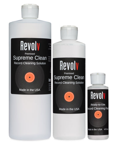 Revolv Supreme Clean Record Cleaning Solution (32 oz.)-Record Cleaning Fluid-Audio Den