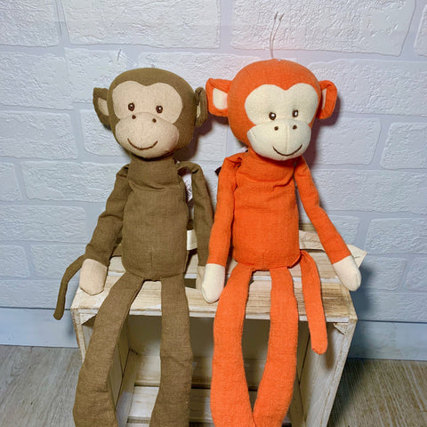 Hippy and Hoppy Linen Monkeys