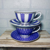 Purple Fine Bone China Teacup