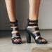 high heel sandal infinite black