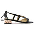 Honey and black quartz sandal