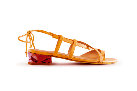 Ruby Dark Yellow Quartz Sandal