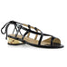 Midas black gold heel quartz sandal