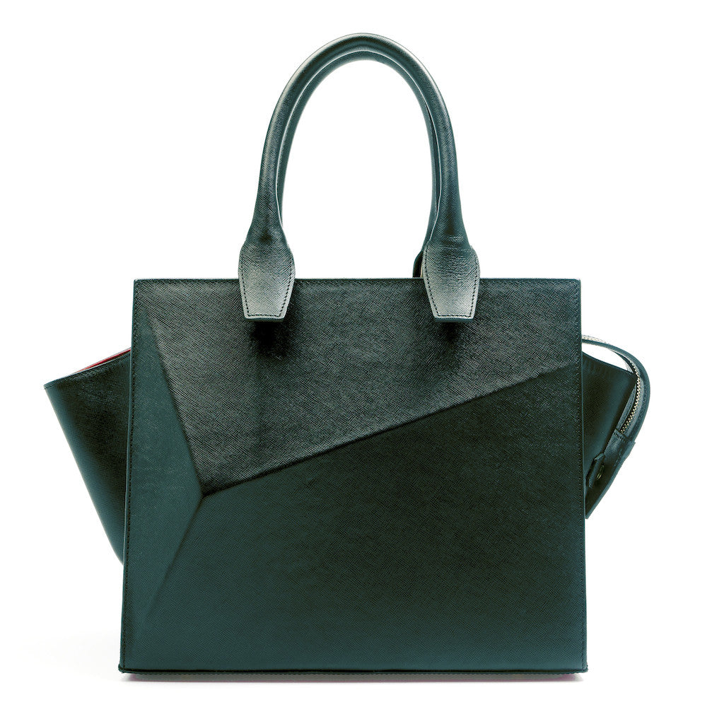 100% leather handbag luxury fashion