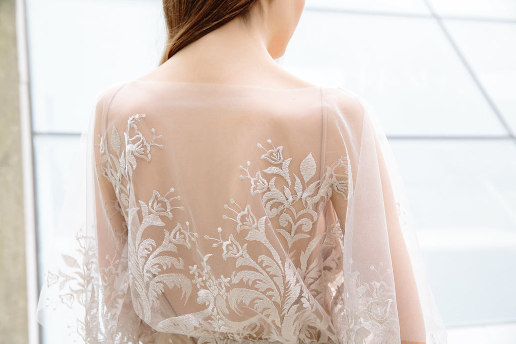 Elle Gown | Back Embroidery Detail