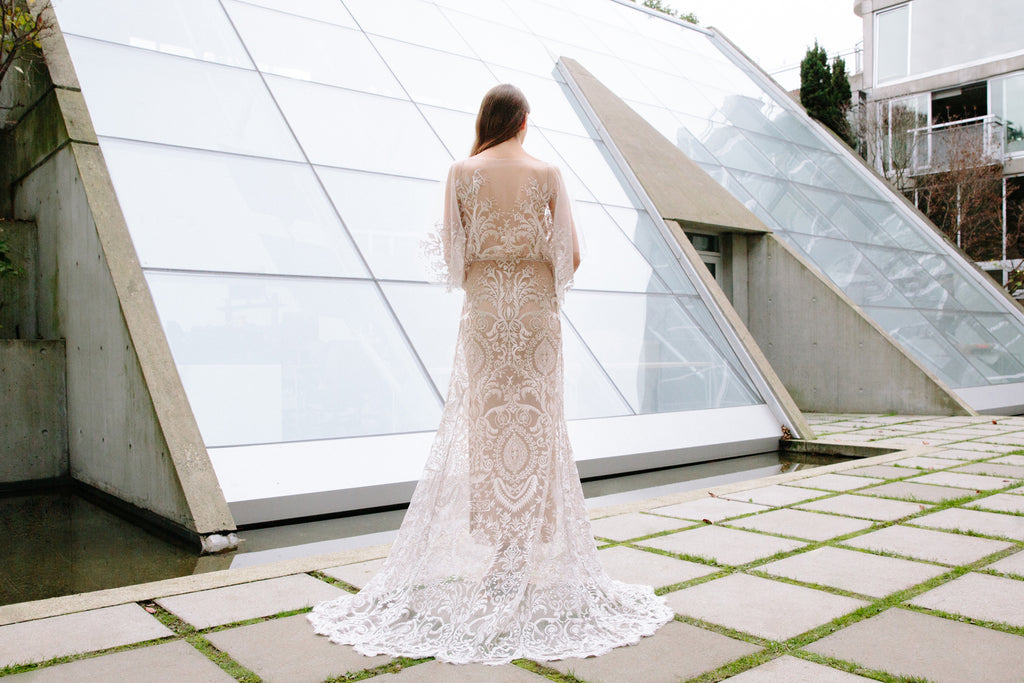 Elle Gown | embroidered wedding dress by Elika In Love
