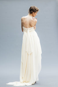 Strapless Chiffon Bridal Dresses hand draped in Vancouver.