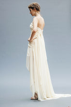 Load image into Gallery viewer, Backless Chiffon Bridal Gowns made in Vancouver.