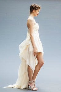 Short Chiffon Wedding Dresses Handmade in Vancouver.