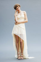 Load image into Gallery viewer, A Chiffon Hi Low Bridal Dress made in Vancouver.