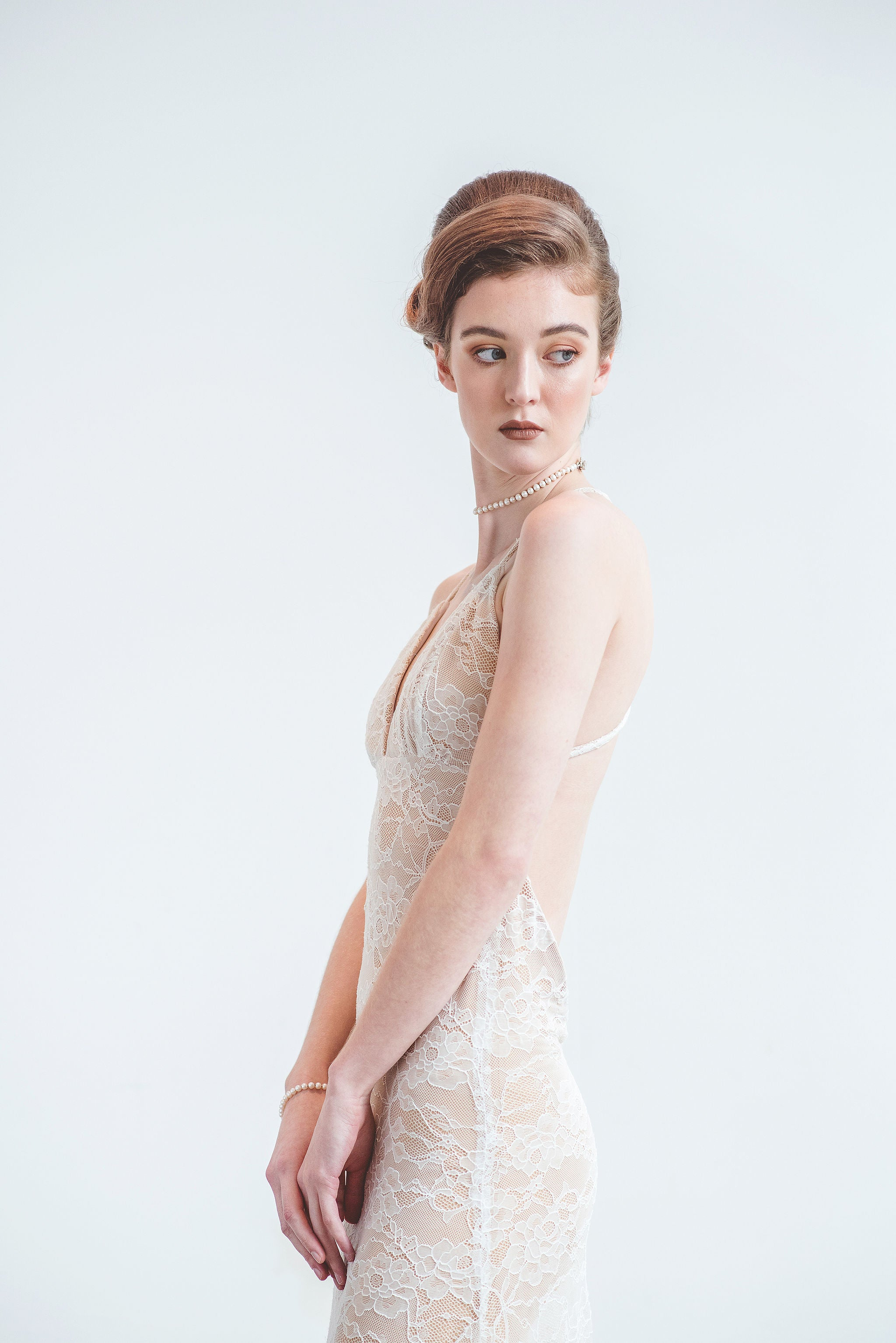 1f7ea02046 ... wedding dress designers Elika In Love creates a sexy backless lace  wedding dress for the bohemian ...