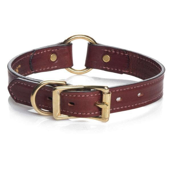 Wide Leather Hunt Dog Collar