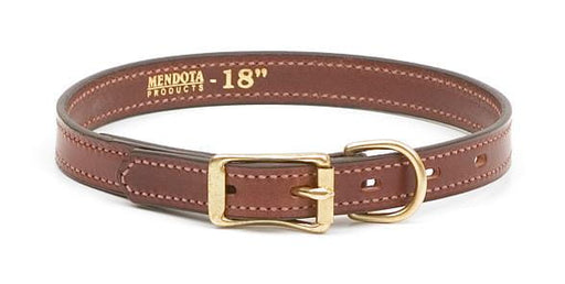Narrow Standard Leather Dog Collar
