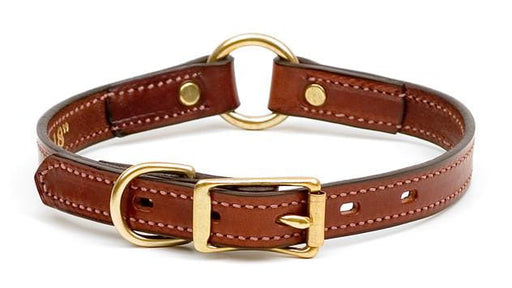 Narrow Leather Hunt Dog Collar