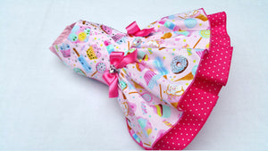 Small dog dress Candy shop, sweets Chihuahua dress T - cup puppy Yorkie coat Harness dress