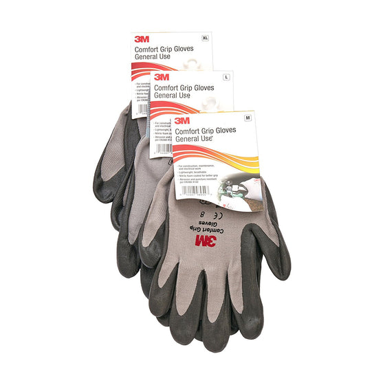 3M Comfort Grip General Use Gloves - 6 pair/bag