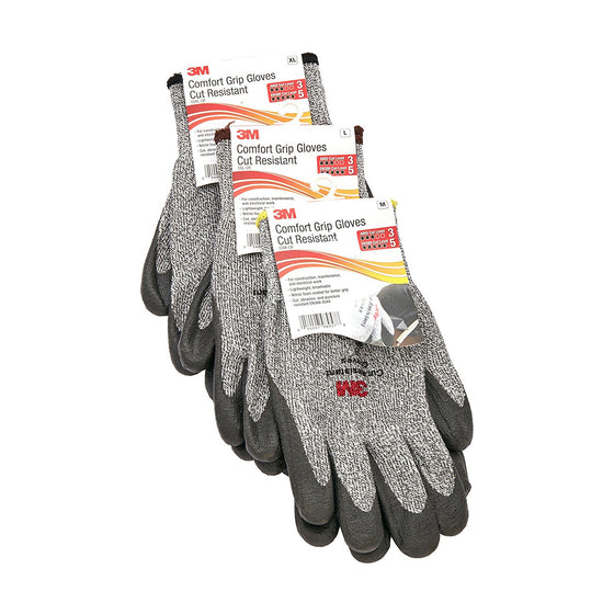 3M Comfort Grip Cut Resistant Gloves (ANSI Cut-Level 3) - 1pr