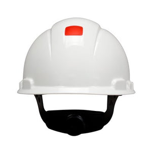 3M™ Hard Hat with UVicator, White, 4-Point Ratchet Suspension, H-701R-UV