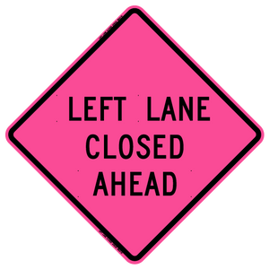 Left Lane Closed Ahead (RUS)