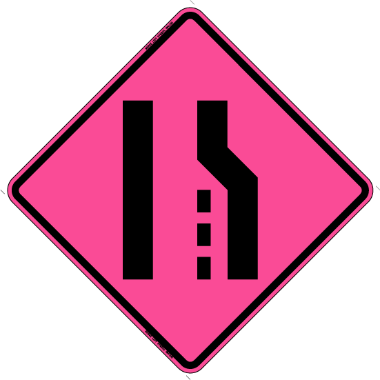 merge left (symbol) (rus) - bone safety signs
