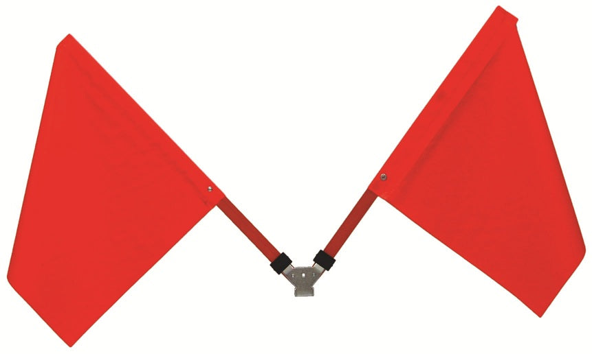 "Bolt on Flag Bracket w/ (2) 18"" Flags for 36"" or 48"" Signs"