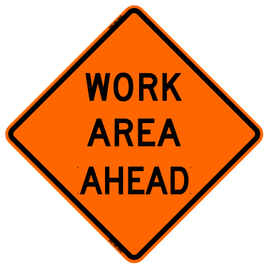 Work Area Ahead (RUS)