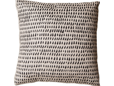 Brushstroke Black Box Cushion