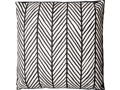 Herringbone Black / Grey Box Cushion