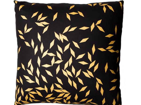Diamonds Gold Lustre Box Cushion