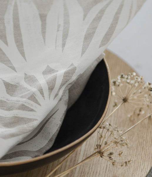 Linen Napkins [Set of 2] - Star Flower