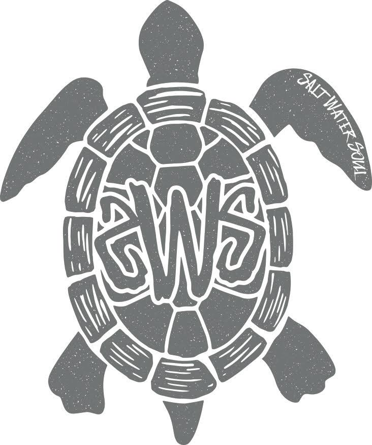 Tortuga Decal - Grey