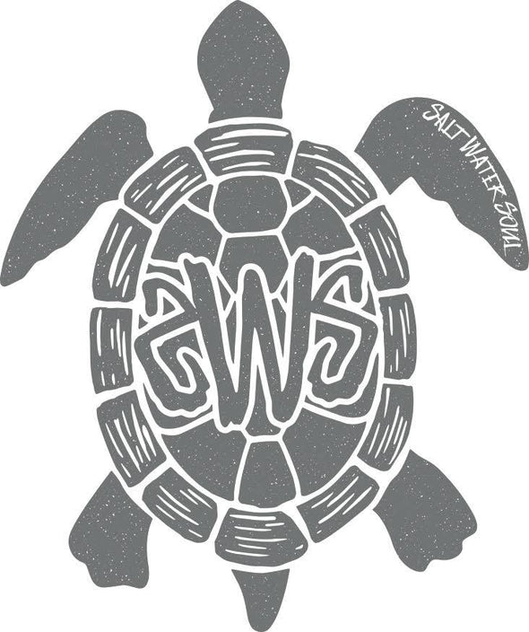 Tortuga Decal - Grey - saltwater-soul