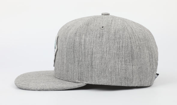 Gray Marlin Snapback Hat