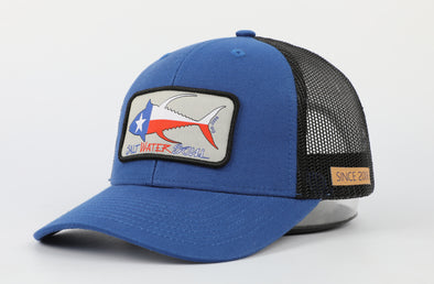 Blue Texas Tuna Trucker Hat