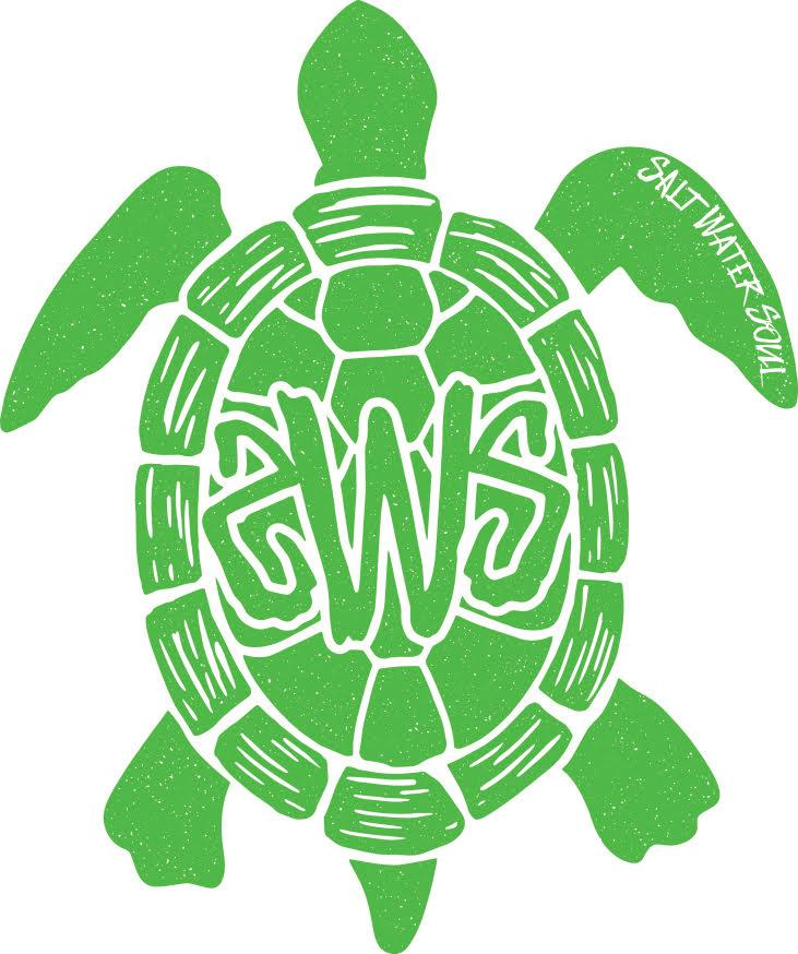 Tortuga Decal - Lime - saltwater-soul