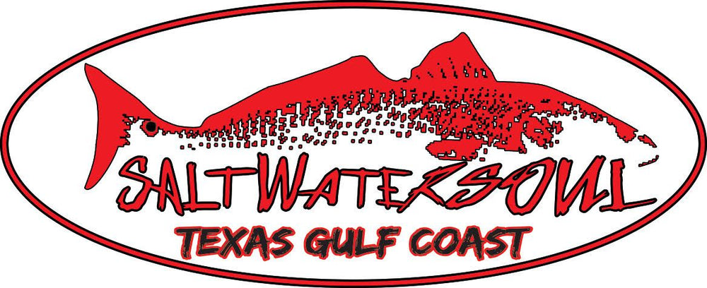 Redfish TX Gulf Coast Decal - saltwater-soul