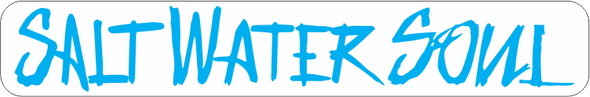 "SALTWATERSOUL Blue Letter 8"" x 2""  Decal - saltwater-soul"