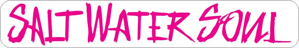 "SALTWATERSOUL Pink Letter 8"" x 2"" Decal"