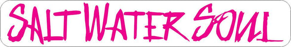 "SALTWATERSOUL Pink Letter 8"" x 2"" Decal - saltwater-soul"