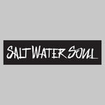 "SALTWATERSOUL White Letter 8"" x 2""  Decal"
