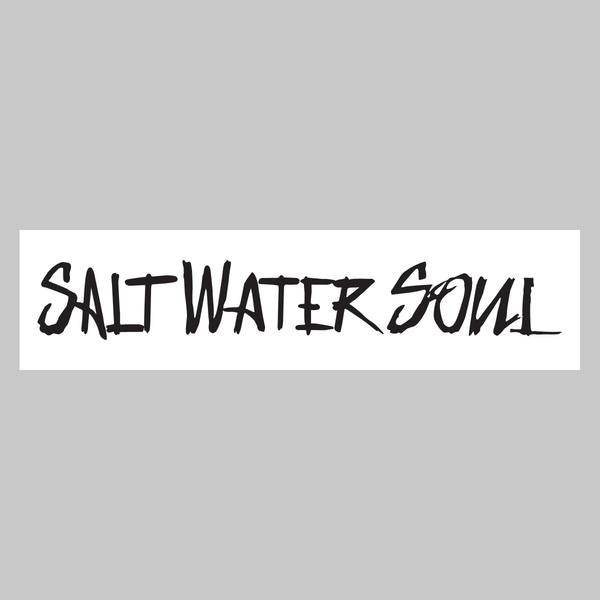"SALTWATERSOUL Black Letter 8"" x 2""  Decal"