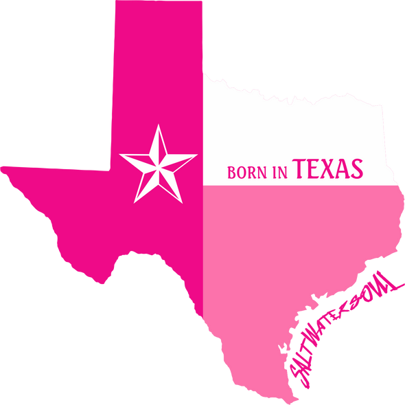 Born In Texas Pink Decal