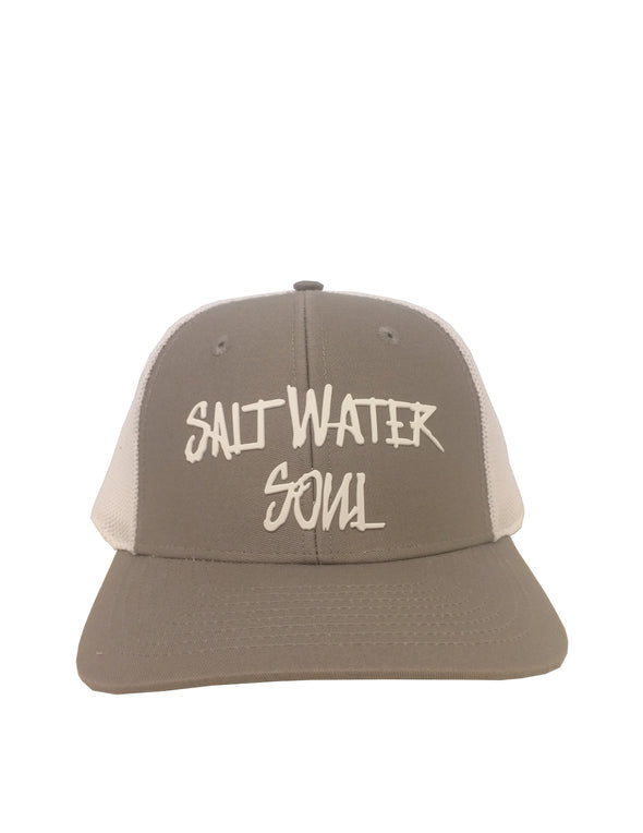 Gray SaltWaterSoul - FlexFit Hat