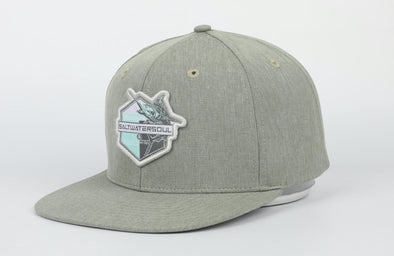 Green Marlin Snapback Hat