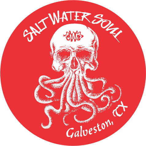 Skully Galveston Decal Red - saltwater-soul