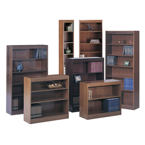 Square-Edge Veneer Bookcase - 2 Shelf