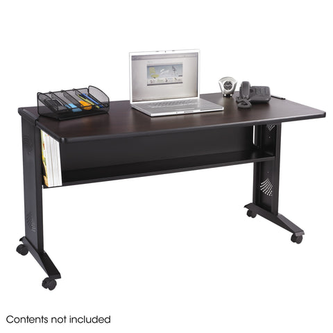 "54""W Reversible Top Mobile Desk"