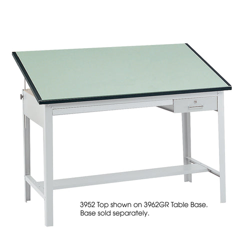 "Precision Tabletop, 60 x 37 1/2"", Green Tinted"