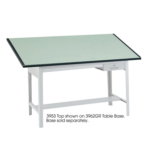 "Precision Table Top, 72 x 37 1/2"", Green Tinted"